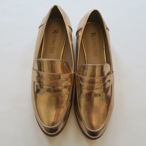 Metallic Rose Gold Restricted Loafers